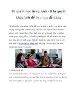 Bí quyết học tiếng Anh - 8 bí quyết khác biệt để bạn học dễ dàng ppt