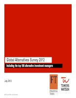 GLOBAL ALTERNATIVES SURVEY 2012 INCLUDING THE TOP 100 ALTERNATIVE INVESTMENT MANAGERS pot