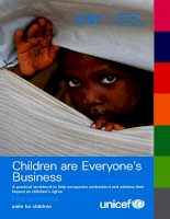 Children are Everyone's Business: A practical workbook to help companies understand and address their impact on children's rights potx