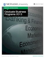 Business and Economics Graduate Business Programs 2013 pot