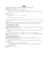 Đề thi thử tốt nghiệp trung học phổ thông - Đề 98 pdf