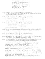 Đề thi đại số tuyến tính: Đề 7 docx