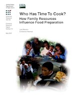 Who Has Time To Cook - How Family Resources Influence Food Preparation pdf