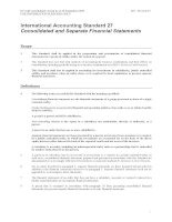 International Accounting Standard 27 Consolidated and Separate Financial Statements doc