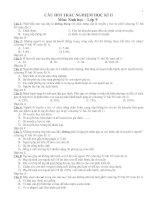 Tuyển chọn câu hỏi trắc nghiệm ôn tập sinh học lớp 9 học kỳ II