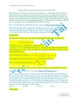 Hướng dẫn một số bài tập sinh học hay và khó 2013 potx