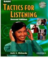 basic tactics for listening -  giáo trình luyện nghe tiếng anh cơ bản