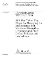 information_technology ssa has taken key steps for managing its investment docx