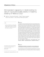Antioxidant capacity in relationship to serum lipid peroxides levels in healthy elderly of Mexico City* doc