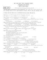 ĐỀ THI THỬ TỐT NGHIỆP THPT (Năm học 2012-2013) MÔN: HOÁ HỌC docx