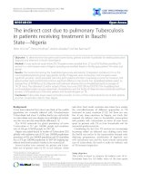 The indirect cost due to pulmonary Tuberculosis in patients receiving treatment in Bauchi State—Nigeria doc