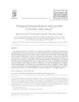 Financial intermediation and growth: Causality and causes potx