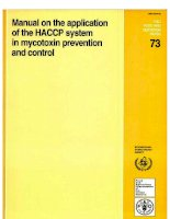 manual on the application of the haccp system in mycotoxin prevention and control pdf
