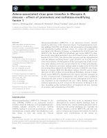 Báo cáo khoa học: Adeno-associated virus gene transfer in Morquio A disease – effect of promoters and sulfatase-modifying factor 1 pot