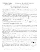 Đề thi học sinh giỏi vật lý tỉnh nghệ an bảng b