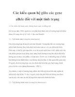 Các kiểu quan hệ giữa các gene allele đối với một tính trạng pdf