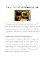6 lưu ý thiết kế nội thất phòng tắm. pot