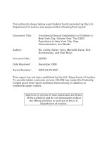 Commercial Sexual Exploitation of Children in New York City, Volume One: The CSEC Population in New York City: Size, Characteristics, and Needs doc