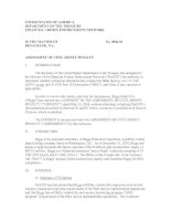 UNITED STATES OF AMERICA DEPARTMENT OF THE TREASURY FINANCIAL CRIMES ENFORCEMENT NETWORK doc