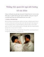Những thói quen khi ngủ ảnh hưởng tới sức khỏe ppt