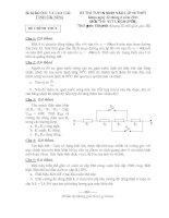 Đề thi học sinh giỏi lớp 10 THPT tỉnh Đăk Nông năm học 2011 - 2012 môn Vật lý chuyên pot