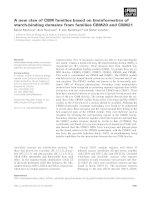Báo cáo khoa học: A new clan of CBM families based on bioinformatics of starch-binding domains from families CBM20 and CBM21 potx
