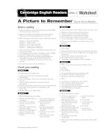 A picture to remember worksheet