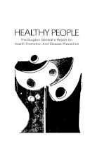 HEALTHY PEOPLE - The Surgeon General' s Report On Health Promotion And Disease Prevention doc