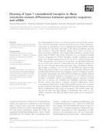 Báo cáo khoa học: Cloning of type 1 cannabinoid receptor in Rana esculenta reveals differences between genomic sequence and cDNA pot
