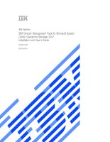 IBM Director Management Pack for Microsoft System Center Operations Manager 2007 Installation and User's Guide Version 5.20 pptx