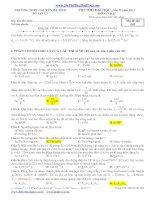 THI THỬ ĐẠI HỌC Lần II năm 2013 MÔN: Vật lý - THPT CHUYÊN HÀ TĨNH (Mã đề thi 005) pptx