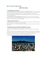 Địa lí 12 bài 18: Đô thị hóa pptx