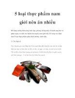 5 loại thực phẩm nam giới nên ăn nhiều potx