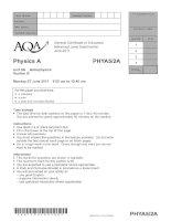 Vật lý A level: AQA PHYA5 2a w QP JUN11