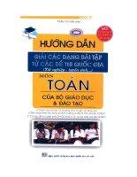 Hướng dẫn giải các dạng bài tập môn Toán từ các đề thi quốc gia docx