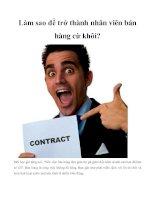 Làm sao để trở thành nhân viên bán hàng cừ khôi? potx
