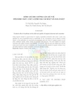 Đánh giá ảnh hưởng của giá thể đến năng suất, chất lượng rau cải ngọt và dưa chuột pdf