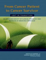 From Cancer Patient to Cancer Survivor - Lost in Transition: An American Society of Clinical Oncology and Institute of Medicine Symposium pot