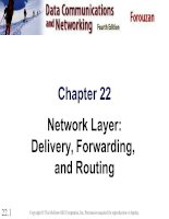 Chapter 22 Network Layer: Delivery, Forwarding, and Routing ppt