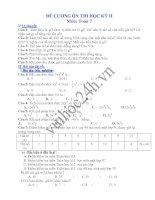Đề cương ôn tập học kỳ 2 - Môn toán đại số lớp 7 ppt