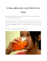 6 thực phẩm nên tránh khi bị đau bụng pdf