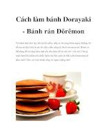 Cách làm bánh Dorayaki - Bánh rán Đôrêmon pptx