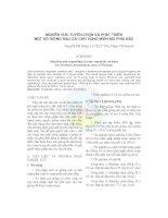NGHIÊN CỨU TUYỂN CHỌN VÀ PHÁT TRIỂN MỘT SỐ GIỐNG RAU CẢI CHO VÙNG MIỀN NÚI PHÍA BẮC pdf