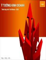 mẫu slide powerpoint ý tưởng kinh doanh, business ideas