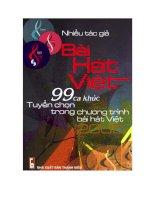 99 Bài hát tuyển chọn trong chương trình Bài hát Việt ppt