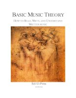 Basic music theory how to read, write and understand written music (jonathan harnum)