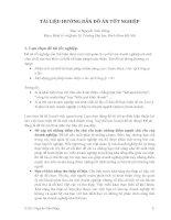 TÀI LIỆU HƯỚNG DẪN ĐỒ ÁN TỐT NGHIỆP - Thạc sĩ Nguyễn Tiến Dũng Khoa Kinh tế và Quản lý, Trường Đại học Bách khoa Hà Nội potx