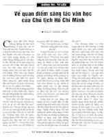 Báo cáo khoa học: Về quan điểm sáng tác văn học của chủ tịch Hồ Chí Minh pdf