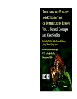 STUDIES ON THE ECOLOGY AND CONSERVATION OF BUTTERFLIES IN EUROPE: Vol. 1: General Concepts and Case Studies pptx
