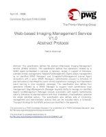 Web-based Imaging Management Service V1.0 Abstract Protocol pot